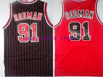 FAST Free Shipping, Retail& Wholesales, CHICAGO #91 Dennis Rodman Top Grade new Material retro Basketball jersey