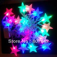 Holiday Outdoor RGB 50 LED String Lights 10M 220V EU plug/110V US Plug Christmas Xmas Wedding Party Decorations