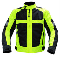 New design motorcycle summer jacket ,racing Breathable mesh jacket two color ,SIZE M L XL XXL,XXXL Reflective green