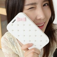 Free Shipping 1pcs 8thdays Pearl Series Luxury leather case cover for iPhone5 5G 5TH, High quality Fashion mobile phone case