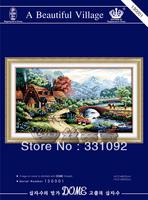 Wholesale 100% accurate printed cross stitch A Beautiful Village new design cross-stitching kits