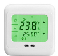 Weekly 7 day 220v Volt Smart LCD Touch Screen Programmabe Digital Under Floor Heating Thermostat with Floor& Air Sensor Russian