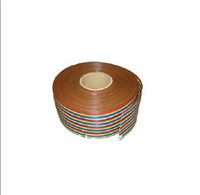 New 2M 40 WAY Flat Color Rainbow Ribbon Cable Wire Rainbow Cable  free shipping