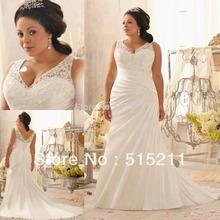 Sexy Spaghetti Strap V-neck High Waist Ivory Mermaid Wedding Dresses Plus Size Bridal Gowns 2015(China (Mainland))