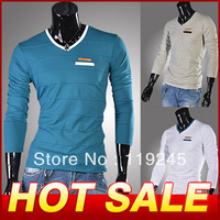 New Stylish Brand Cotton T shirt Fashion T-shirt Long Sleeve T Shirts For Men Tee Shirt  Free Shipping Y238