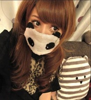 Winter fashion women's cartoon panda masks thermal thickening masks