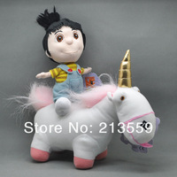 "Free Shipping NEW Despicable Me Agnes 7""& Unicorn 8"" High Quality Plush Doll Toy Wholesale And Retail"