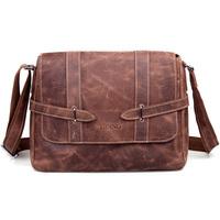 Cattle crazy horse leather man bag fashion vintage handmade commercial briefcase male shoulder bag messenger bag 1045