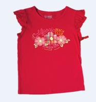 2013 free shipping Oshkosh female child 100% cotton casual o-neck short top 2 - 5