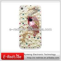 Free shipping Low price rhinestone hard phone housing for iphone 5s