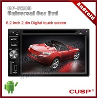 Android CP-6203 universal car dvd player with dvd,gps,blue-tooch,ipod,RDS,WIFI,3G,SD,map(option) for all cars