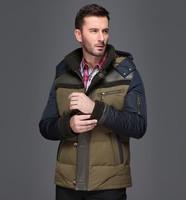 2013New  male medium-long berber fleece down coat thick thermal detachable cap winter jacket