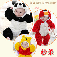 Winter thickening baby romper baby animal style children's bodysuit clothing clothes wadded jacket