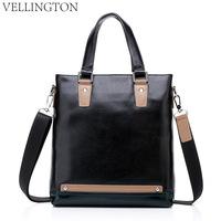 2013 male business bag genuine leather man bag first layer of cowhide handbag one shoulder laptop bag briefcase
