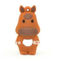 cute cartoon gift  horse usb flash drive u disk 10pcs/ lot  animal usb pen drive4GB 8GB 16GB stick horses wholesale