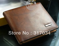 High Quality  Genuine Leather  Wallet Pockets Card Clutch Cente Bifold Purse Money Clip Cad Holder