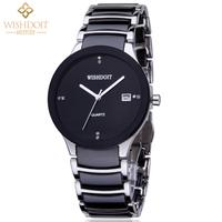 Free Shipping!!! New Fashion Style Ceramic Watchband Rhinestone Calendar Waterproof Quartz Watch