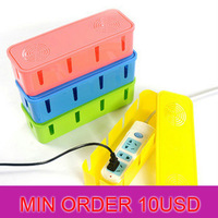 3948 Min order $10 (mix order) free shipping 2013 New Arrival vintage power cord holder line management storage boxes