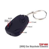 Keychain DV 808 camera,Car key cameras,720HD Mini DVR 200Pcs Free DHL Shipping