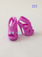 FREE SHIPPING Fashion purple stage high heel shoes for barbie doll - item no.223 *1