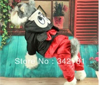 Princess Dog Pet Clothes Autumn Winter/Free Shipping Winter Pet Dog Clothes Mickey Mouse Discount Overall Jumpsuit Clothing