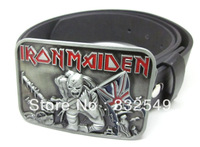 IRON MAIDEN belt  Buckle with Free belt , Free shipping worldwide