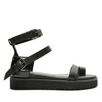 Jj women's shoes double j unisex fashion package with flip double layer platform flat sandals belt