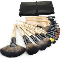 Professional 24  Make Up Brush Set Case 24 Makeup Brush Set tools Make-up Toiletry Kit   free shipping