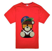Wholesale fashion new style 2013 casual hip hop sport men clothing brand series Cool Bear O-Neck short T shirts