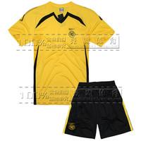 Soccer jersey football training suit paintless short-sleeve set football jersey long-sleeve male
