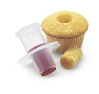 2pcs/lot Kitchen Cupcake Muffin Cake Corer Plunger Pastry Decorating Cutter Model Tool