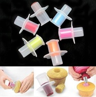 5pcs/lot Kitchen Cupcake Muffin Cake Corer Plunger Pastry Decorating Cutter Model Tool  free shipping