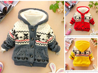 Baby sweatshirt 2013 autumn and winter 0-1 - 2 - 3 male child girls clothing thickening baby outerwear wadded jacket