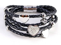 Follifollie PU female titanium bracelet
