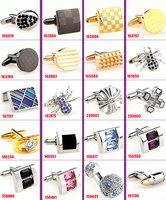 free shipping 40pcs/lot cufflinks for mens wedding Cuff links Novelty Cufflink crystal Cufflinks Can be mixed batch