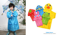 Free Shipping Baby Girls Boys Children Kids Toddlers Cartoon Animal Style Cute Raincoat Rainwear Rainsuit Poncho Waterproof