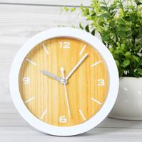 Rustic small alarm clock wood clock desktop clock