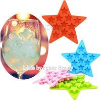 Five Stars shape chocalate Silicone mold Ice Cube Trays ice Cream Mold Maker cake Ice Mould DIY ice mold Free shipping 10pcs/lot