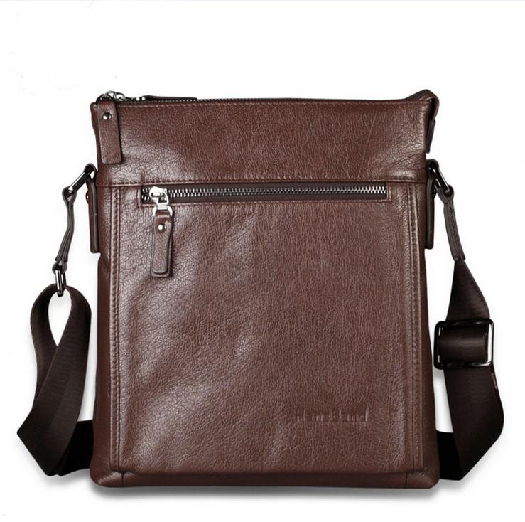 Men's Genuine Leather Business Messenger Shoulder Bag Satchel Cross Body 1910(China (Mainland))