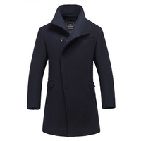 Fashion slim trench male trench outerwear woolen overcoat male medium-long
