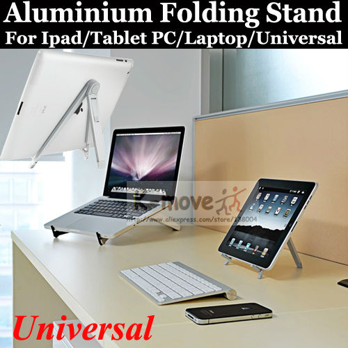 Free Shipping Stands For ipad 2/3/4/Mini Desktop Display Universal Portable Folding Holder Zinic Alloy Simple Stylish(China (Mainland))