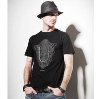 HOT SELL Fashion brief black fashion slim o-neck short-sleeve T-shirt men's
