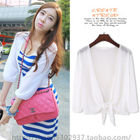 Chiffon shirt summer women's 2013 whitest SEMIR pattern all-match gentlewomen sunscreen cardigan