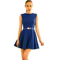 Free Shipping 2013 Hot Sale Celeb O-Neck Fashion Women's Sexy Dress Belt Included one Piece Dress Pettiskirt Set  3 Colour