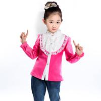 Children's clothing female child spring and autumn 2013 basic shirt medium-large girls long-sleeve T-shirt