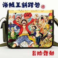 Messenger bag canvas bag school bag one shoulder casual bag 100% cotton canvas luffy