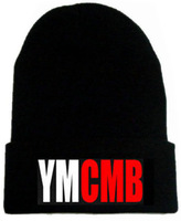 Free shipping! New arrival YMCMB Beanie hats high quality winter Knitted caps men and women warm hat Online Cheap Sale