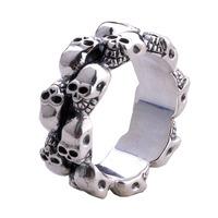 Eternal non-mainstream silversmithing thai silver men punk accessories skull ring