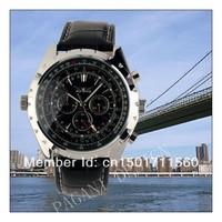 Brand Luxury Gent Men Black Aviator Automatic Mechanical Watch wat05014