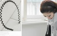 5PCS/LOT Korean Style Hairbands Unisex Style Metal Wave Headband J017